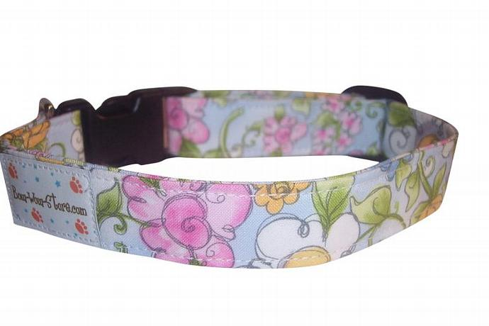 Daisy Chain dog cat pet puppy collar xs sm med lg xl custom made all sizes