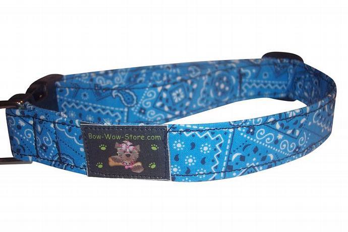Navy Blue Bandana Western dog cat pet puppy collar xs sm med lg xl custom made