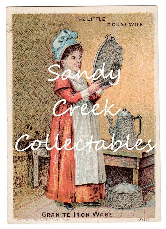 Digital Download Antique Trade Card Kitchen Granite Iron Ware