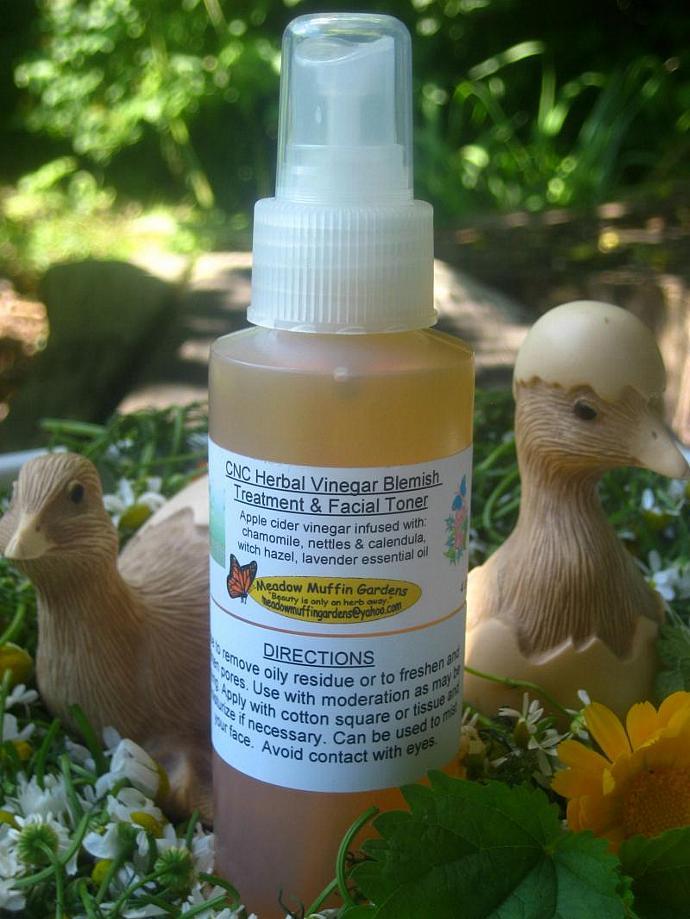 Gentle Herbal Vinegar Facial Toner or Blemish Treatment