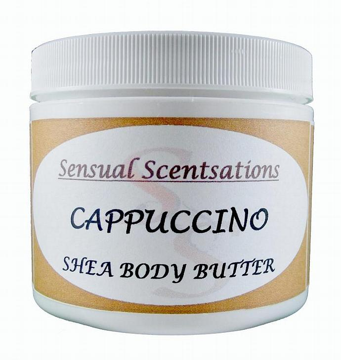 Cappuccino Scented Body Butter Deep Moisturizing Shea 4 oz