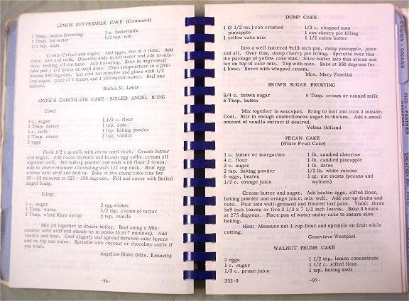 Cookbook Assoc. Operating Room Nurses Los Angeles California 1970s Vintage Cook