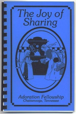 Vintage Cookbook Chattanooga Tennessee Church Joy of Sharing 1991 Recipe