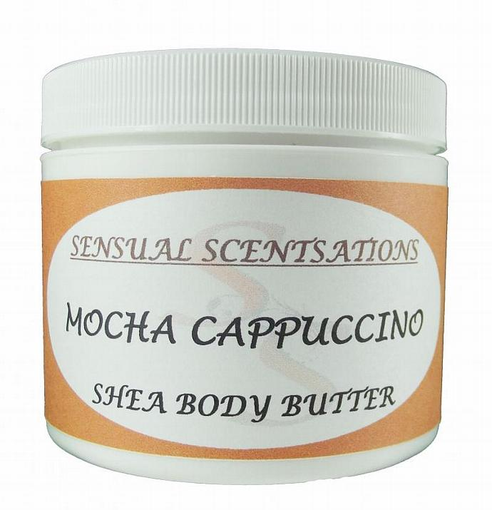Mocha Cappuccino - Deep Moisturizing Body Butter - 4 oz Natural