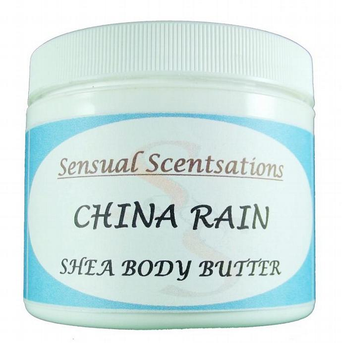 China Rain Deeply Moisturizing Whipped Body Butter Shea 4oz