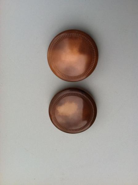 Vintage Brown Vest Buttons (2 pc)