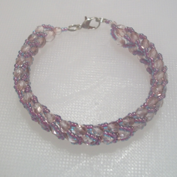 purple,rose,blue bracelet