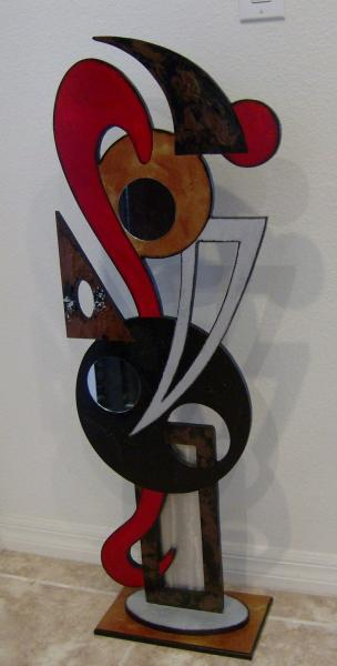 "Unique ""Red Odyssey"" Contemporary Modern Abstract Floor Sculpture by Diva Art69"