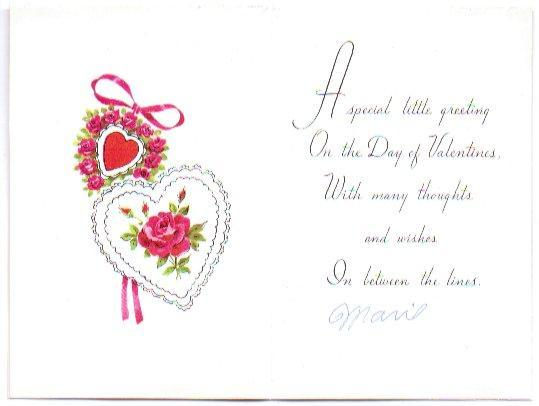 Vintage Valentine Card 1960s Flower Power Greeting Red Hearts Flowers