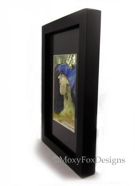 NEW BLACK FRAME Buy only when Buying One of My ACEOs Ready to Hang or Stand