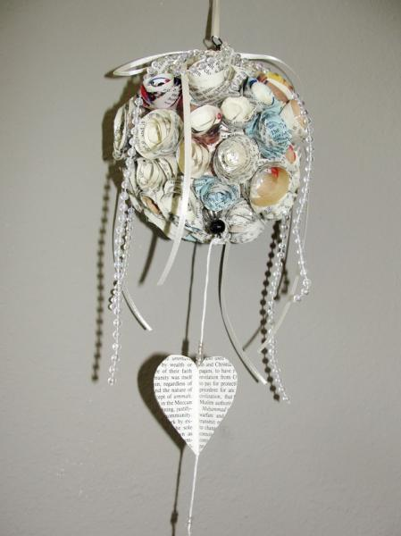 Paper Roses Kissing Ball