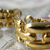 Golden Links 1970 Classic Vintage Pierced Earrings