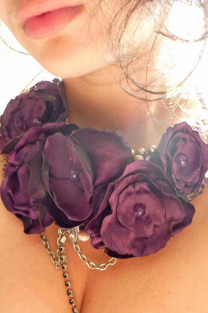Purple Galore Statement Bib Necklace