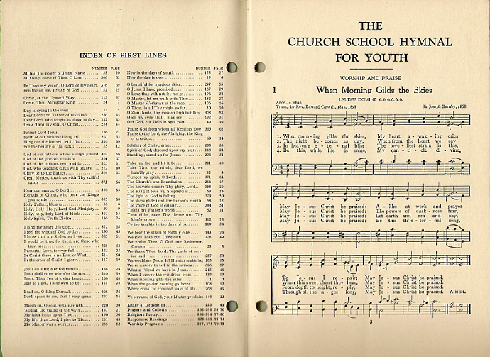 Hymns of Joy 1938 Antique Youth Church School Christian Hymnal Song Book