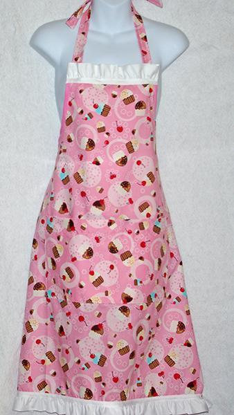 Flirty Pink Cupcake Apron
