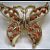 Vintage - Gerry Coral Butterfly Brooch
