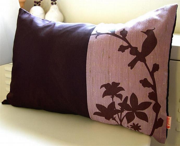 Plum Cardinal Throw Pillow