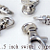 100 Nickel Plated Lobster Swivel Clasps - 1.5 INCH