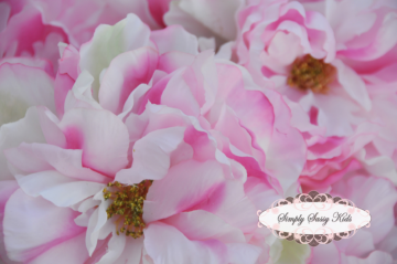 Precious PINK Peony Silk Flower ~ DIY Hair Clips