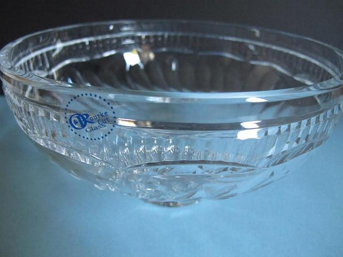 Signed Tipperary 32 %  cut glass bowl Hockey
