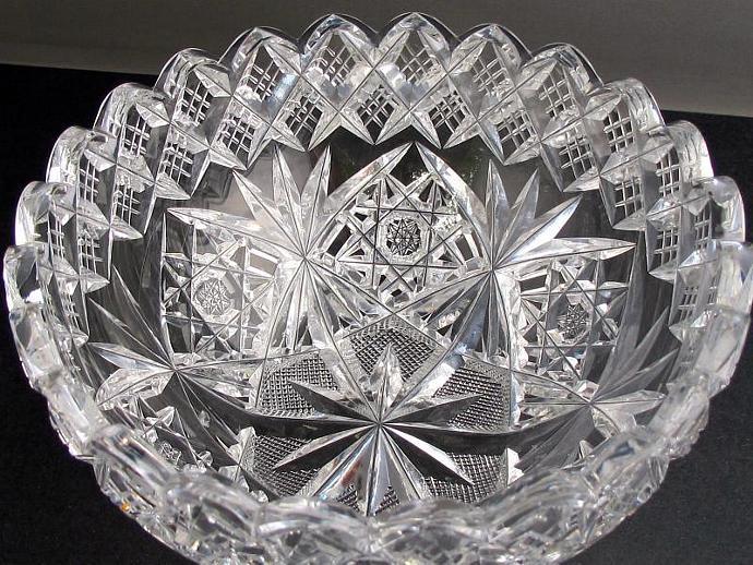 ABP cut glass Hawkes American ANTIQUE