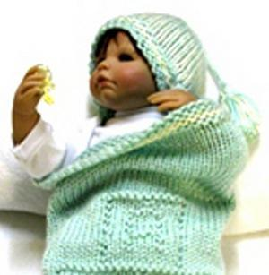 Knitting Pattern Baby Cocoon And Matching By Ezcareknits On Zibbet