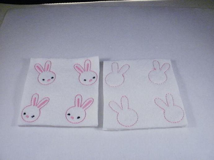 Straight Ear Bunny Feltie