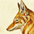 Abyssinian Wolf 1971 Vintage Louis Agassiz Fuertes Natural History Lithograph