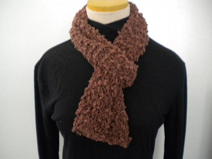 Brown Nubby Scarf