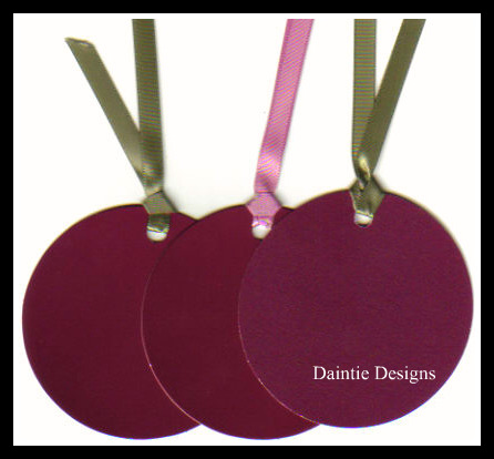 Round Wine Tags Set of 3