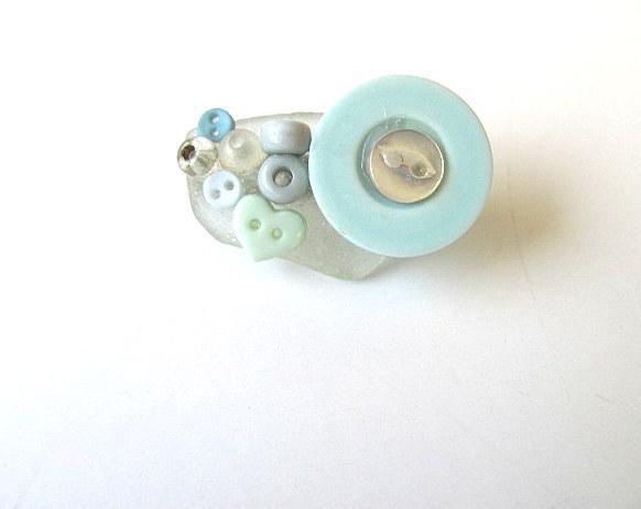 Seaside Beach Glass Pin