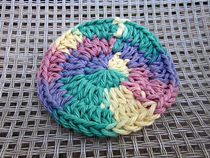 3 Multicolor Cotton Face Scrubbies