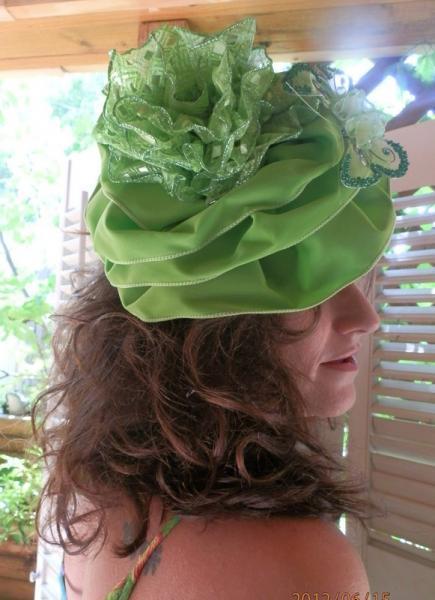 Green Hat/Fascinator  SOLD