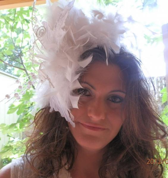 White Wedding Fascinator/Headband/Hat