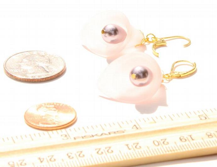 Earrings Pretty in Pink Calla Lily