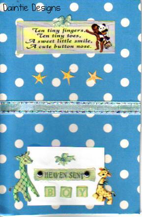 Heaven Sent Baby Boy Greeting Card