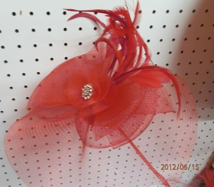 Red Hat with Rhinestone Pin