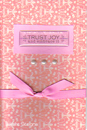Trust Joy Greeting Card