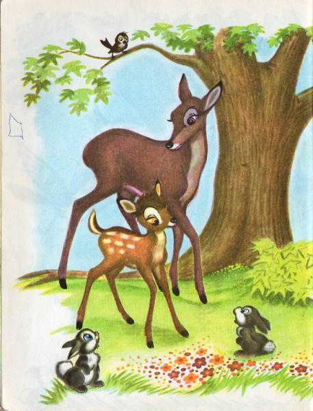 Bambi Walt Disney Vintage Little Golden Book D90 Kids Children's