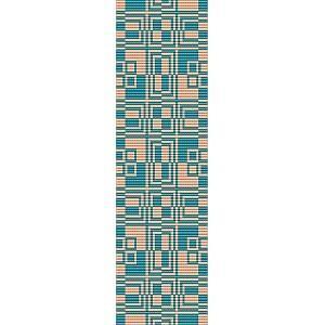 Loom Bead Pattern for Boxed In Cuff Bracelet
