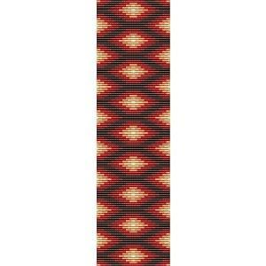 Loom Bead Pattern for Native American Rug #8 Cuff Bracelet