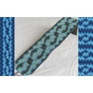 2 Loom Bead Patterns for Electric Blue Cuff Bracelets - 2 For The Price Of 1
