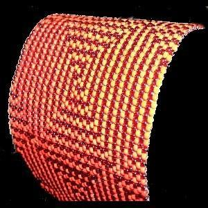 Peyote Bead Pattern for Candy Cane Maze Cuff Bracelet