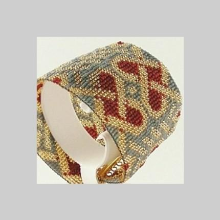 2 Loom Bead Patterns for 1 Price - Celtic Hearts Cuff Bracelets