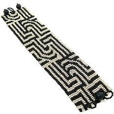 8 Drop Peyote Bead Pattern for Symmetry In Motion Cuff Bracelet