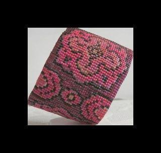 2 Loom Bead Patterns for Spanish Rose Cuff Bracelets - 2 For The Price Of 1