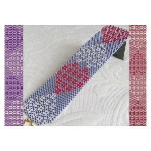 2 Loom Patterns - Heart Weave Cuff Bracelet - 2 For The Price Of 1