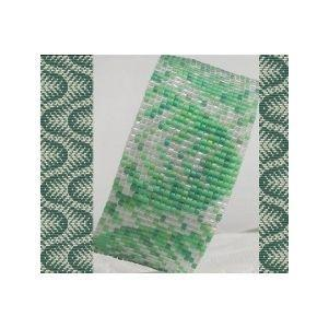 2 Loom Bead Patterns - Sea Weed Cuff and Thin Bracelets - 2 For The Price Of 1