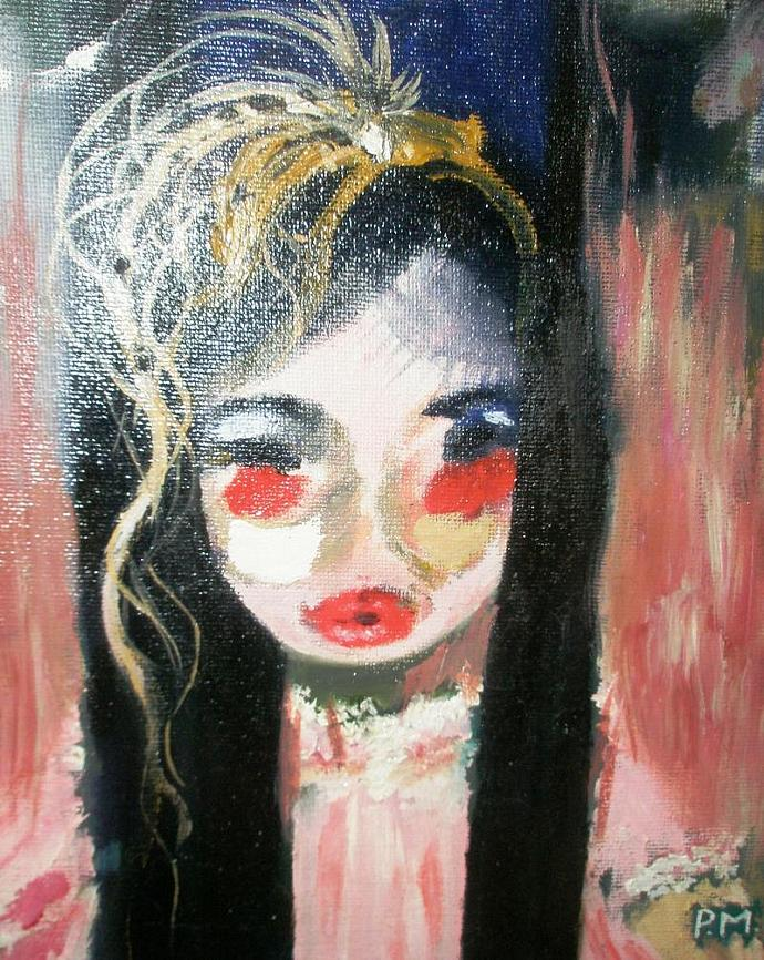 "Doll 9"" x 10""x Flat Canvas. Small."