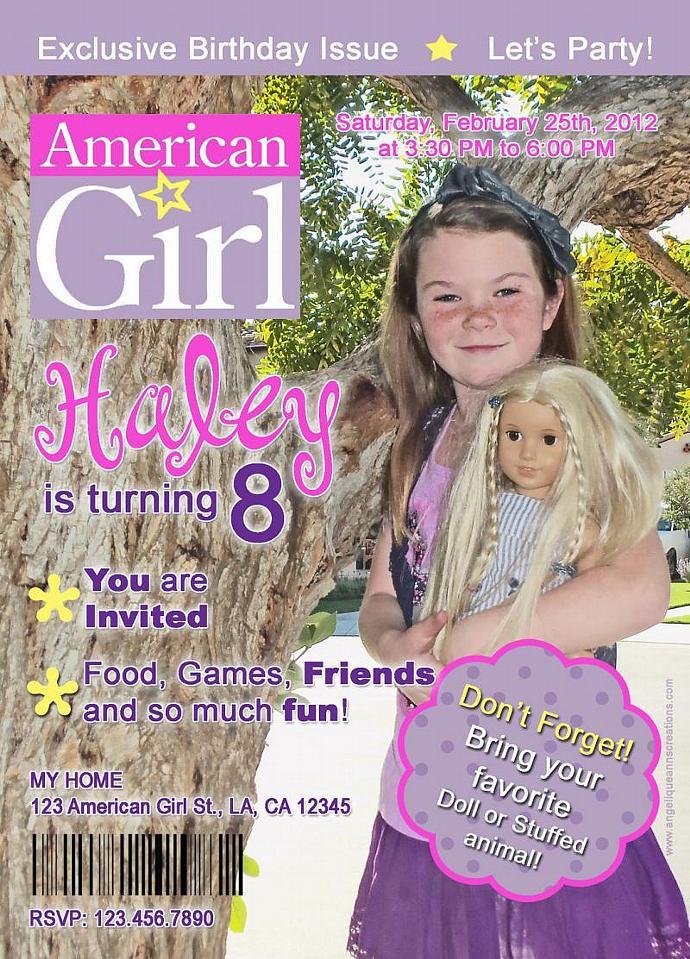 American Girl Doll Magazine Style Birthday | aacreations